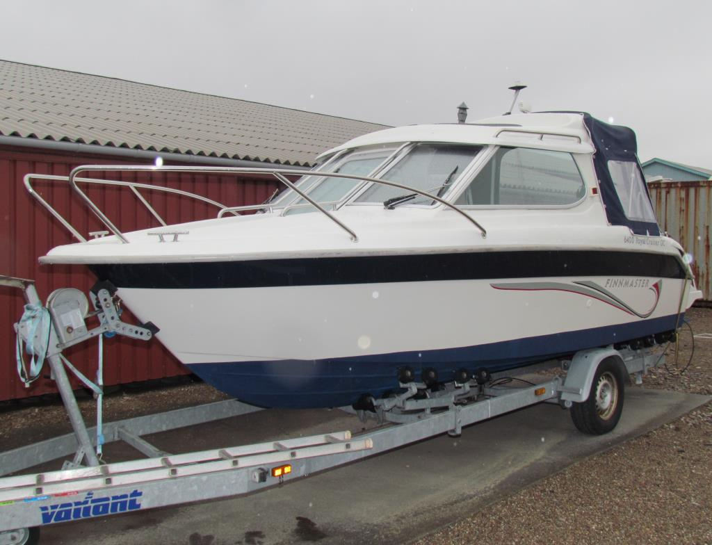 Finnmaster 6400 Royal Cruiser OC m trailer